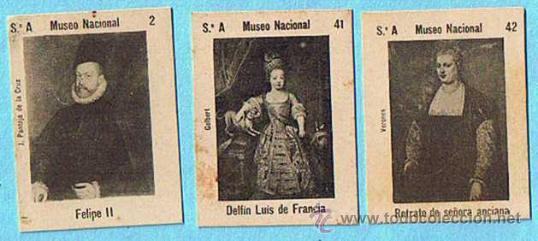 LOTE DE CROMOS. CROMOS SUELTOS; 0,60 €. FOTOTIPIAS DE CERILLAS. SERIE A. MUSEO NACIONAL, PINTURAS. (Coleccionismo - Cromos y Álbumes - Cromos Antiguos)