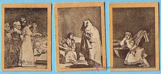 LOTE DE CROMOS. CROMOS SUELTOS; 0,80 €. FOTOTIPIAS DE CERILLAS. SERIE 29. LOS CAPRICHOS DE GOYA. (Coleccionismo - Cromos y Álbumes - Cromos Antiguos)