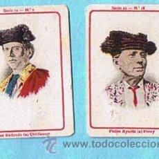 Coleccionismo Cromos antiguos: LOTE DE CROMOS. CROMOS SUELTOS; 1,50 €. FOTOTIPIAS DE CERILLAS. SERIE 12. TOROS. TORERO, TOREROS.. Lote 32379320