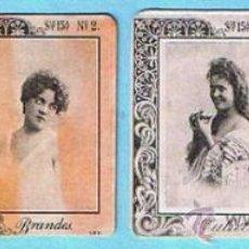 Coleccionismo Cromos antiguos: LOTE DE CROMOS. CROMOS SUELTOS; 1,50 €. FOTOTIPIAS CAJAS DE CERILLAS SERIE 15 ARTISTAS DE VARIEDADES. Lote 46433207