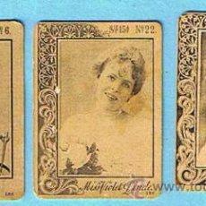 Coleccionismo Cromos antiguos: LOTE DE CROMOS. FOTOTIPIAS DE CAJAS DE CERILLAS. SERIE 15. ARTISTAS DE VARIEDADES. ANTERIOR A 1917.. Lote 32536344