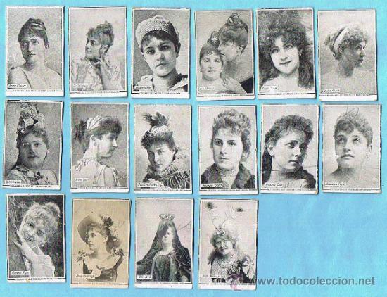 LOTE DE CROMOS. CROMOS SUELTOS; 3,00 €. FOTOTIPIAS. SERIE A, B. ARTISTAS. TABACOS DE FILIPINAS. (Coleccionismo - Cromos y Álbumes - Cromos Antiguos)