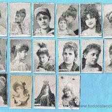 Coleccionismo Cromos antiguos: LOTE DE CROMOS. CROMOS SUELTOS; 3,00 €. FOTOTIPIAS. SERIE A, B. ARTISTAS. TABACOS DE FILIPINAS.. Lote 221858876