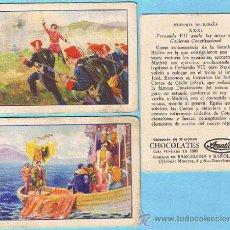 Coleccionismo Cromos antiguos: LOTE DE CROMOS. CROMOS SUELTOS; 0,80 € HISTORIA DE ESPAÑA COLECCION DE 36 CROMOS CHOCOLATES AMATLLER. Lote 151703784