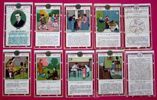 COLECCION COMPLETA. LA TELEFONIA SIN HILOS. CHOCOLATE CHOCOLATES OBSEQUIO DE LA CASA AMATLLER. (Coleccionismo - Cromos y Álbumes - Cromos Antiguos)