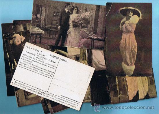 COLECCIÓN COMPLETA DE LA PELICULA LILIANA. FRANCESCA BERTINI. CHOCOLATE CHOCOLATES AMATLLER. 1910'S. (Coleccionismo - Cromos y Álbumes - Cromos Antiguos)