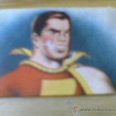 Coleccionismo Cromos antiguos: CROMO DEL ALBUM CROMOS HAZAÑAS CAPITAN MARVEL AÑOS 40 ED FHER CROMO RECUPERADO Nº14 DESPERFECTO. Lote 32459906