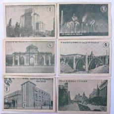 Coleccionismo Cromos antiguos: LOTE 13 CROMOS VISTAS DE MADRID, PARA ALBUM TOMBOLA. Lote 32618104