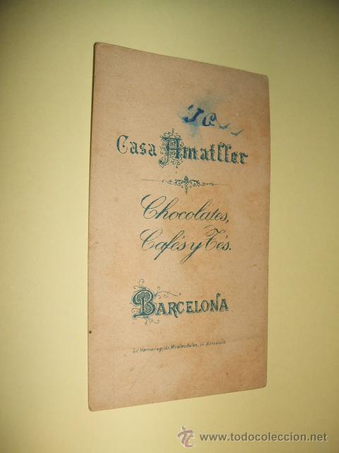 Coleccionismo Cromos antiguos: CROMO SIGLO XIX CHOCOLATES AMATLLER BARCELONA - Foto 2 - 33399607