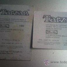 Coleccionismo Cromos antiguos: 2 CROMOS TARZAN DE PANRICO. Lote 33491432