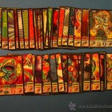 Coleccionismo Cromos antiguos: BOLLY KAOS, THE GAME, DE BOLLYCAO, COLECCIÓN COMPLETA DE 25 DEFENDERS + 25 MONSTERS. Lote 33710820