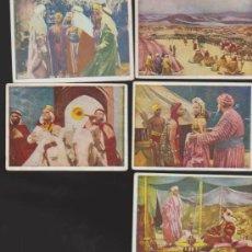 Coleccionismo Cromos antiguos: LAS MIL U UNA NOCHES. GRAFIDEA 194?. LOTE DE 5 CROMOS. . Lote 33875668