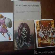 Coleccionismo Cromos antiguos: LOTE 4 CROMOS HISTORIA-FICCION. Lote 34249820