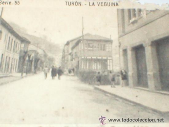 TURON LA VEGUINA ASTURIAS CALLE FERNANDEZ GONZALEZ CROMO AÑOS 30 (Coleccionismo - Cromos y Álbumes - Cromos Antiguos)