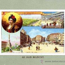 Coleccionismo Cromos antiguos: MADRID. CROMO DE AU BON MARCHE CON CUATRO VISTAS. Lote 34412638