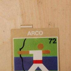 Coleccionismo Cromos antiguos: BIMBO - JUEGOS OLIMPICOS 1972. ARCO. MUY RARO. Lote 34412718