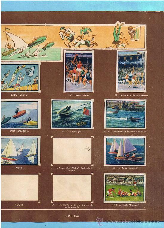 Coleccionismo Cromos antiguos: LOTE DE CROMOS. CROMOS SUELTOS; 1,00 €. DEPORTES. 2º ÁLBUM GALLINA BLANCA, 1945. - Foto 3 - 34631241