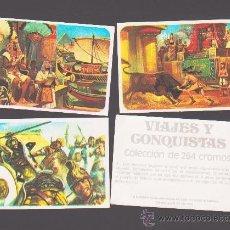 Coleccionismo Cromos antiguos: VIAJES Y CONQUISTAS - EDITADOS POR RUIZ ROMERO (1976) - CROMOS A ELEGIR DE LA LISTA ADJUNTA. Lote 39460989