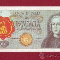 Coleccionismo Cromos antiguos: CROMO BILLETE TELE BANCO CANCION - 5000 LIRAS - ITALIA. Lote 34723719
