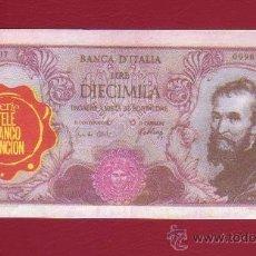 Coleccionismo Cromos antiguos: CROMO BILLETE TELE BANCO CANCION - 10000 LIRAS - ITALIA. Lote 34723753