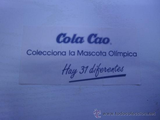 Coleccionismo Cromos antiguos: CROMO DE COLA CAO - PIRAGUISMO - MASCOTA OLIMPICA - COBI - OLIMPIADA DE BARCELONA - AÑO 1988 - Foto 2 - 34925031