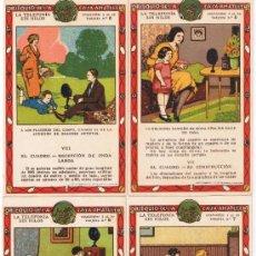Coleccionismo Cromos antiguos: LA TELEFONÍA SIN HILOS - COLECCIÓN 10 CROMOS - CASA AMATLLER - . Lote 35326886