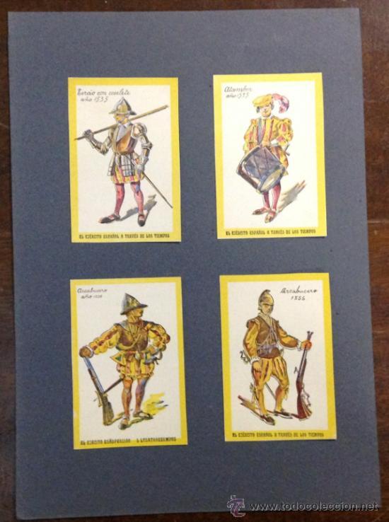 Coleccionismo Cromos antiguos: 20 CROMOS. EL EJÉRCITO ESPAÑOL A TRAVÉS DE LOS TIEMPOS. Desde 1503 hasta 1690. - Foto 3 - 35754878