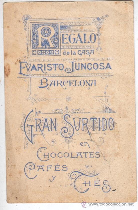 Coleccionismo Cromos antiguos: bonito cromo- estampa -chocolate juncosa - religioso san luis gonzaga - Foto 2 - 35835203