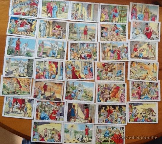 QUO VADIS...? AMATLLER, LOTE DE 31 CROMOS, A FALTA DE 9 PARA COMPLETAR (Coleccionismo - Cromos y Álbumes - Cromos Antiguos)