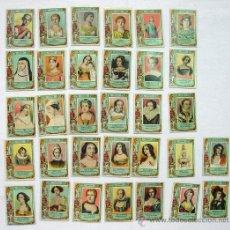 Coleccionismo Cromos antiguos: LOTE 32 CROMOS. SERIE 21. COLECCIÓN FOTOTIPIAS CAJAS DE CERILLA ANTIGUAS. MUJERES CELEBRES FAVORITAS. Lote 36093595