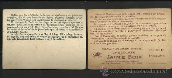 Coleccionismo Cromos antiguos: LOS TRES MOSQUETEROS - COL. COMPLETA 30 CROMOS - VER FOTOS - (CR-150) - Foto 7 - 36259045