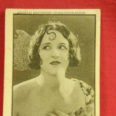 Coleccionismo Cromos antiguos: CROMO Nº 10 SERIE VIII DOLORES CASINELLI ARTISTAS EMINENTES CINEMATOGRÁFICOS AÑOS 20 CON PUBLICIDAD. Lote 36370460