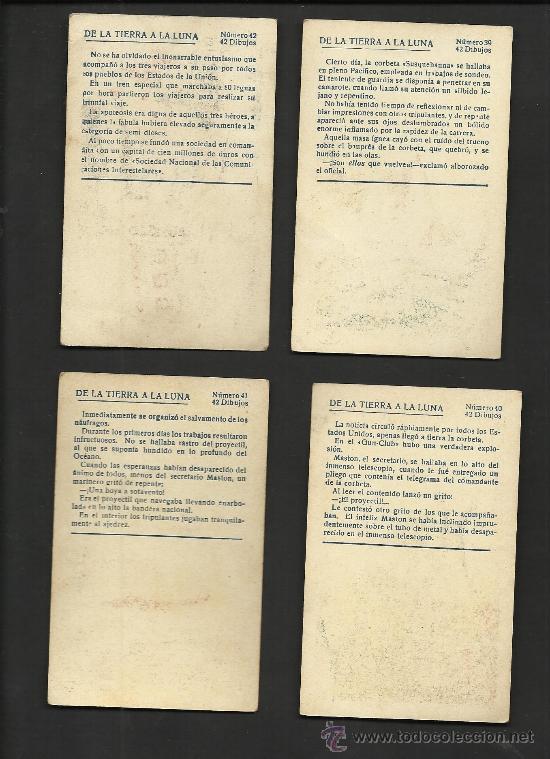 Coleccionismo Cromos antiguos: DE LA TIERRA A LA LUNA - COL. COMPLETA 42 CROMOS - VER FOTOS ADICIONALES - (CR-181) - Foto 9 - 36473368