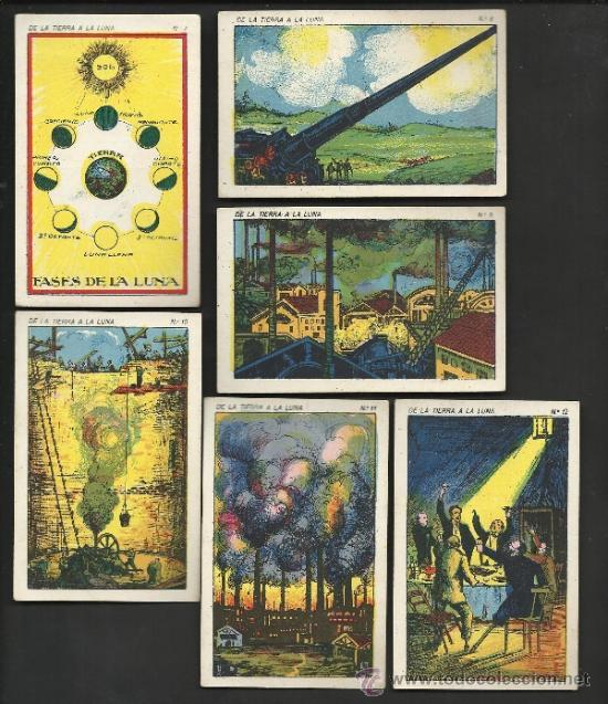 Coleccionismo Cromos antiguos: DE LA TIERRA A LA LUNA - COL. COMPLETA 42 CROMOS - VER FOTOS ADICIONALES - (CR-181) - Foto 3 - 36473368