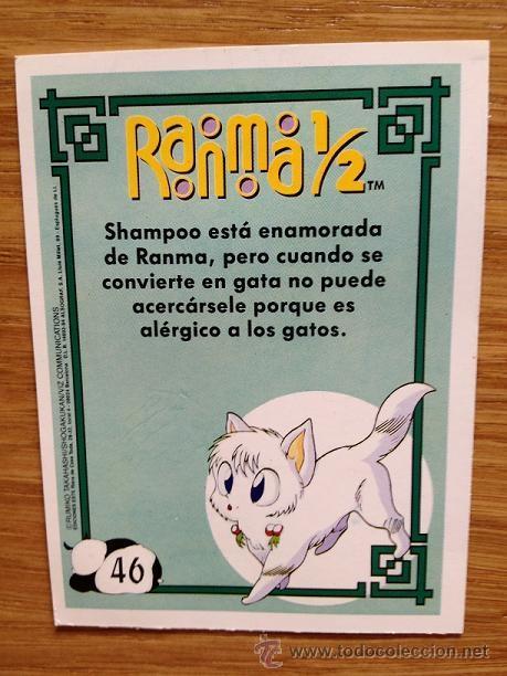 Coleccionismo Cromos antiguos: Cromo nº 46 de Ranma - Foto 2 - 37474173