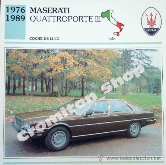 Coche De Lujo Maserati Quattroporte Iii Ita Comprar Cromos
