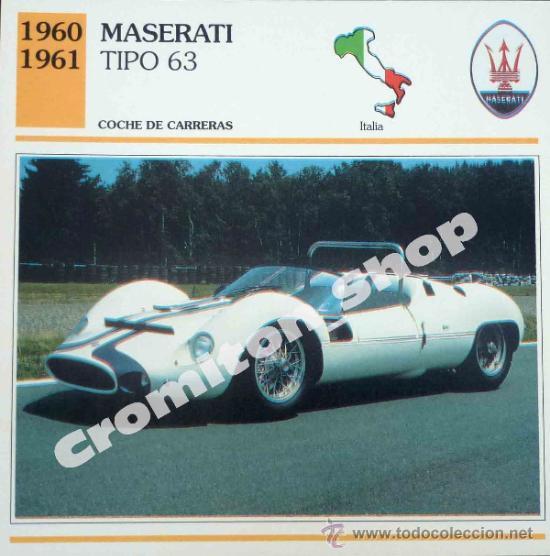 Coche De Carreras Maserati Tipo 63 Italia A Comprar Cromos