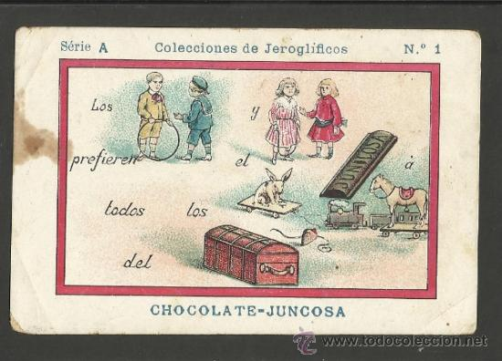 JEROGLIFICOS - COLEC. COMPLETA 50 CROMOS CHOCOLATE AMATLLER - VER FOTOS - (CR-245) (Coleccionismo - Cromos y Álbumes - Cromos Antiguos)