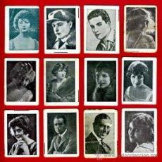 Coleccionismo Cromos antiguos: LOTE 48 CROMOS ARTISTAS DE CINE , PEQUEÑOS, PAPEL DE FUMAR MI PAPEL ,ORIGINALES , I. Lote 37694234