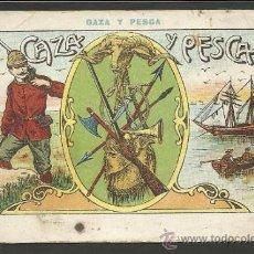 Coleccionismo Cromos antiguos: CAZA Y PESCA - COL. COMPLETA 25 CROMOS - CHOCOLATE ANGELICAL- VER FOTOS - (CR- 254). Lote 37946599