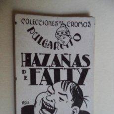 Coleccionismo Cromos antiguos: COLECCION DE CROMOS PULGARCITO.HAZAÑAS DE FATTY COMPLETA 12 CROMOS. Lote 38079741