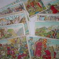 Coleccionismo Cromos antiguos: LOTE DE 37 CROMOS ...HISTORIA DE CATALUNYA......XOCOLATA JUNCOSA. Lote 38240141