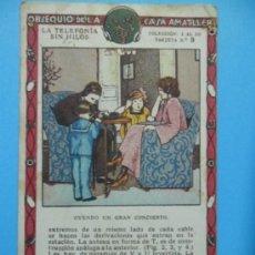 Coleccionismo Cromos antiguos: CROMO CHOCOLATE AMATLLER - LA TELEFONIA SIN HILOS - Nº 3 . Lote 38449062