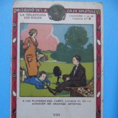 Coleccionismo Cromos antiguos: CROMO CHOCOLATE AMATLLER - LA TELEFONIA SIN HILOS - Nº 6. Lote 38449093
