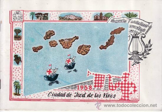 FIESTAS DEL SANTISIMO CRISTO DEL CALVARIO ICOD DE LOS VINOS TENERIFE 1958 (Coleccionismo - Cromos y Álbumes - Cromos Antiguos)