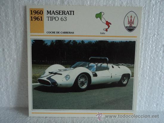 Ficha Autos De Coleccion Maserati Tipo 63 Comprar Cromos Antiguos