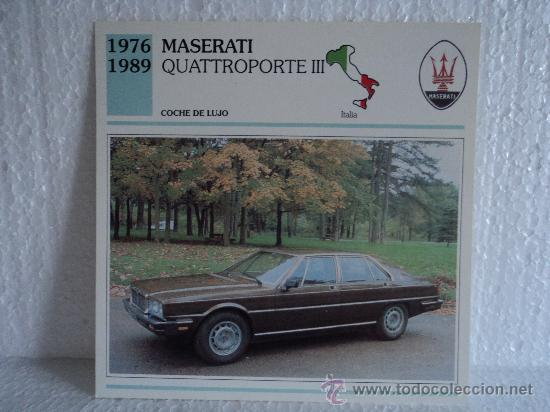 Ficha Autos De Coleccion Maserati Quattroporte Comprar Cromos