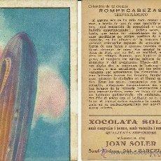 Collezionismo Figurine antiche: (CRO-128)COLECCION COMPLETA 12 CROMOS ROMPECABEZAS TRANSATLANTICO CHOCOLATES SOLSONA. Lote 38875615