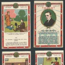 Coleccionismo Cromos antiguos: LOTE 4 CROMOS CHOCOLATES CASA AMATLLER LA TELEFONIA SIN HILOS CROMO. Lote 39229205