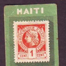 Coleccionismo Cromos antiguos: CHOCOLATES AMATLLER.SERIE B.CROMO NR.16.HAITI.SELLOS.. Lote 39959670